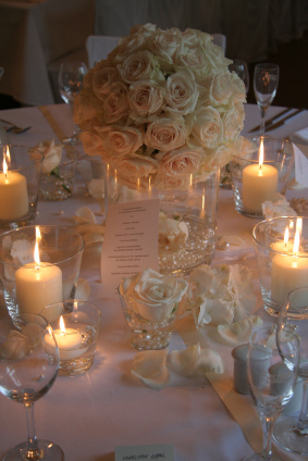 Wedding Decoration With Lights And Candles