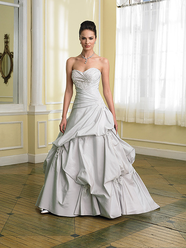 wedding dresses with color accents. accent color for a wedding