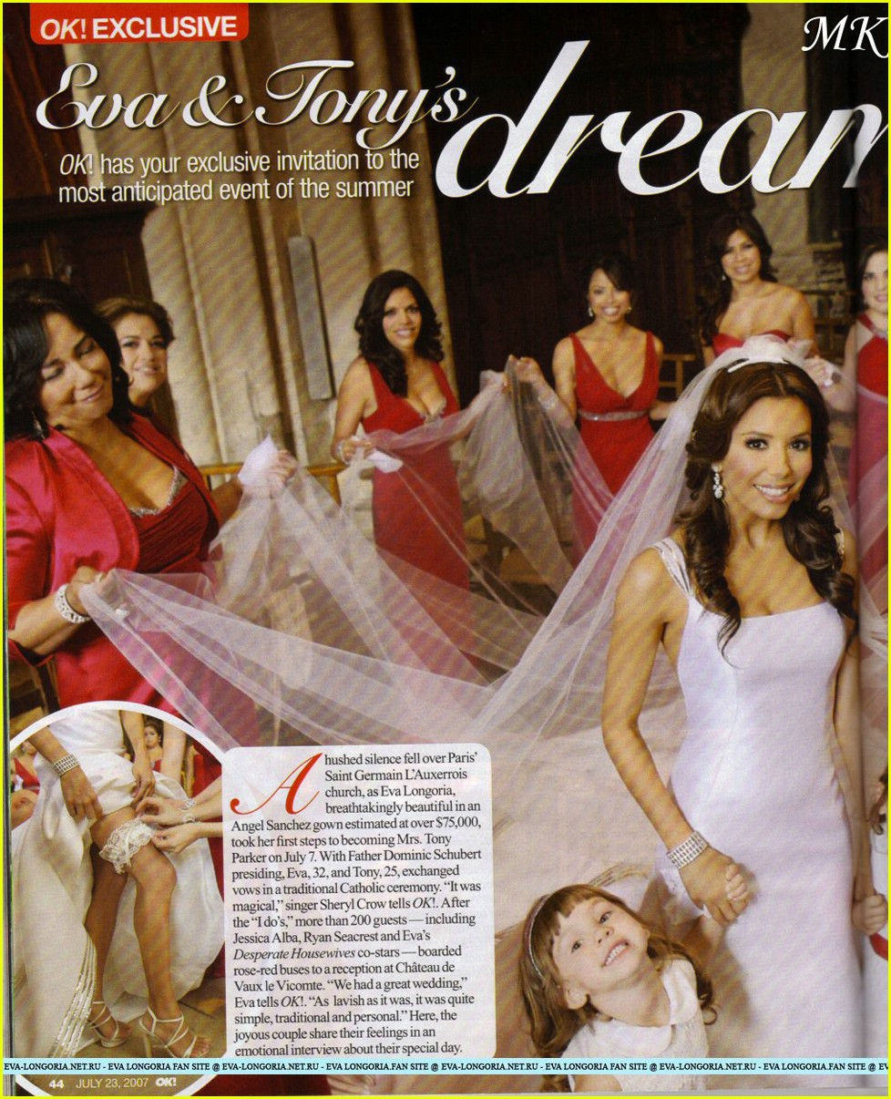 eva longoria wedding dresses