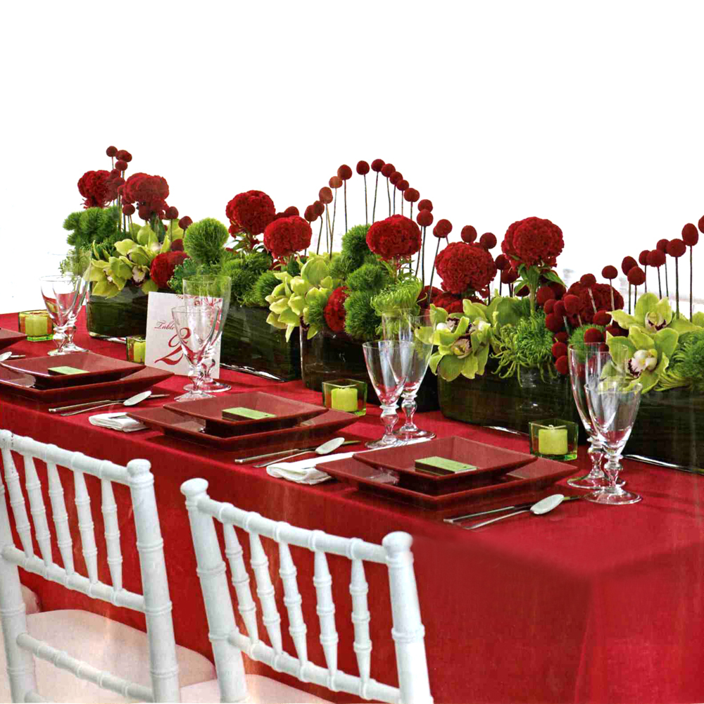 Our selection of red weddings decors weddings on the for Red decoration for wedding