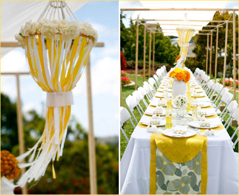 What About A Yellow And Grey Wedding Weddings On The French