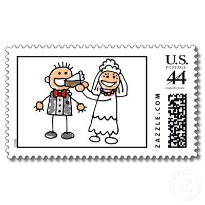 Invite them with your own wedding postage stamps for Post office design your own stamps