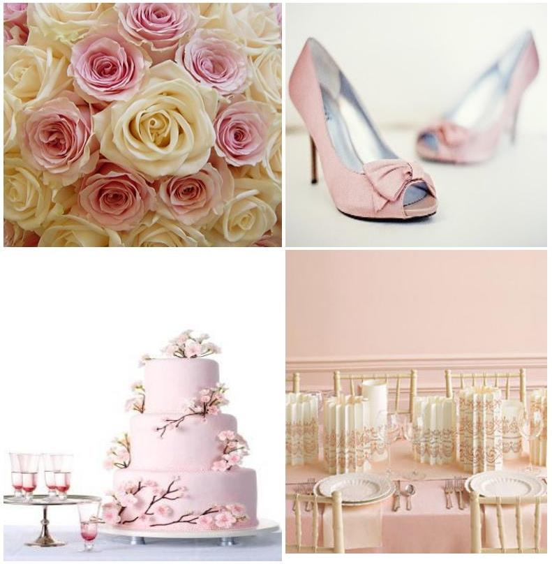 Here are some ideas for a pastel pink wedding decoration