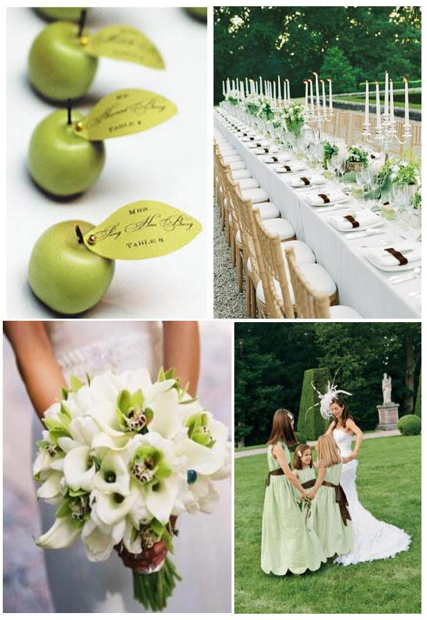 Think about a green and white wedding weddings on the french think about a green and white wedding junglespirit