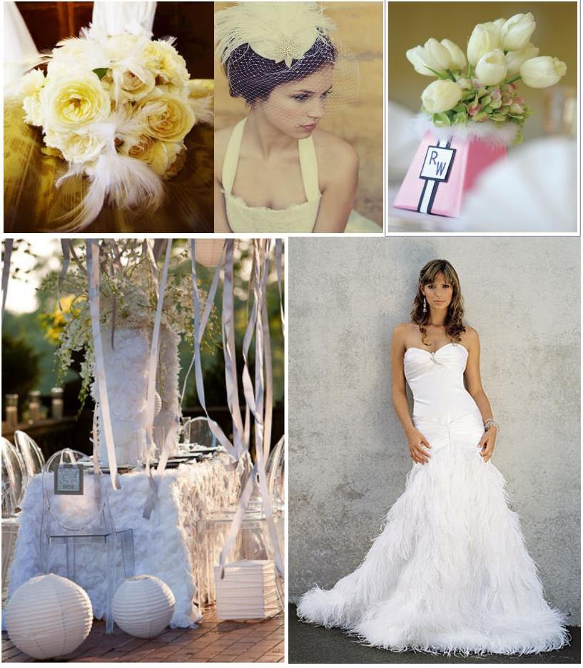 White feather wedding decoration | Weddings on the French Riviera