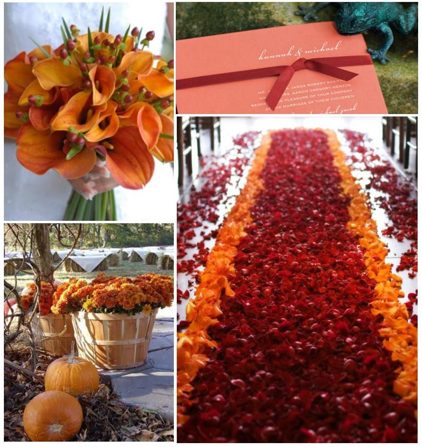 An autumn wedding decoration weddings on the french for Autumn wedding decoration ideas