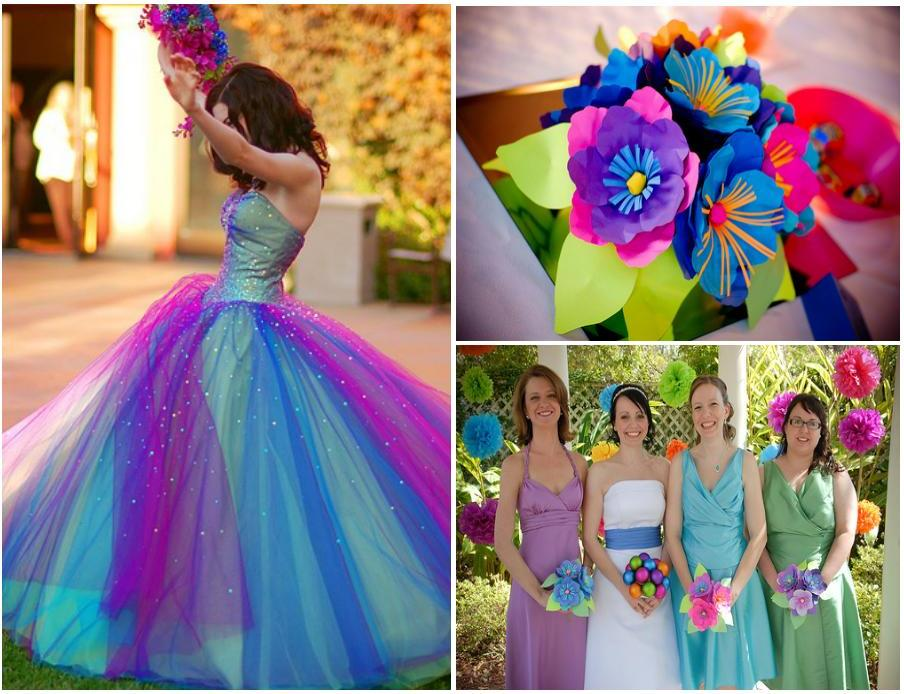 So here are some pictures about very colorful wedding decoration