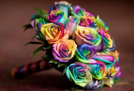 One of them is obviously the wedding bouquet Look at these roses