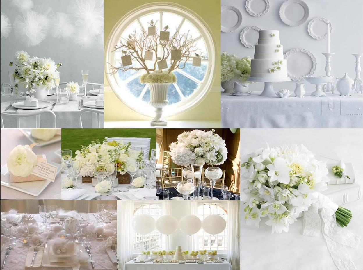 Pure White and Elegant White Wedding Receptions