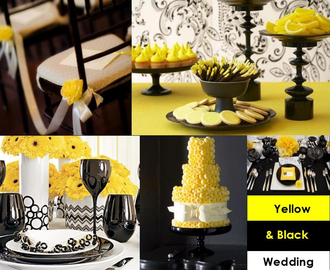 Yellow and black for your wedding decoration weddings on the indeed junglespirit Gallery