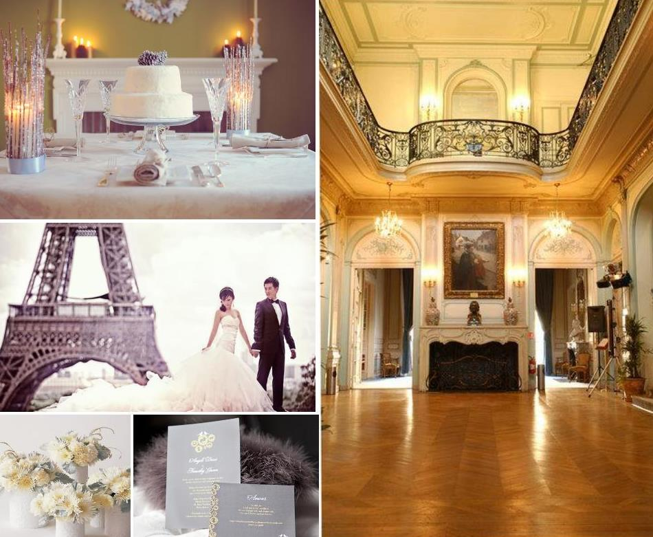 For your Parisian winter wedding we can suggest you elegant and