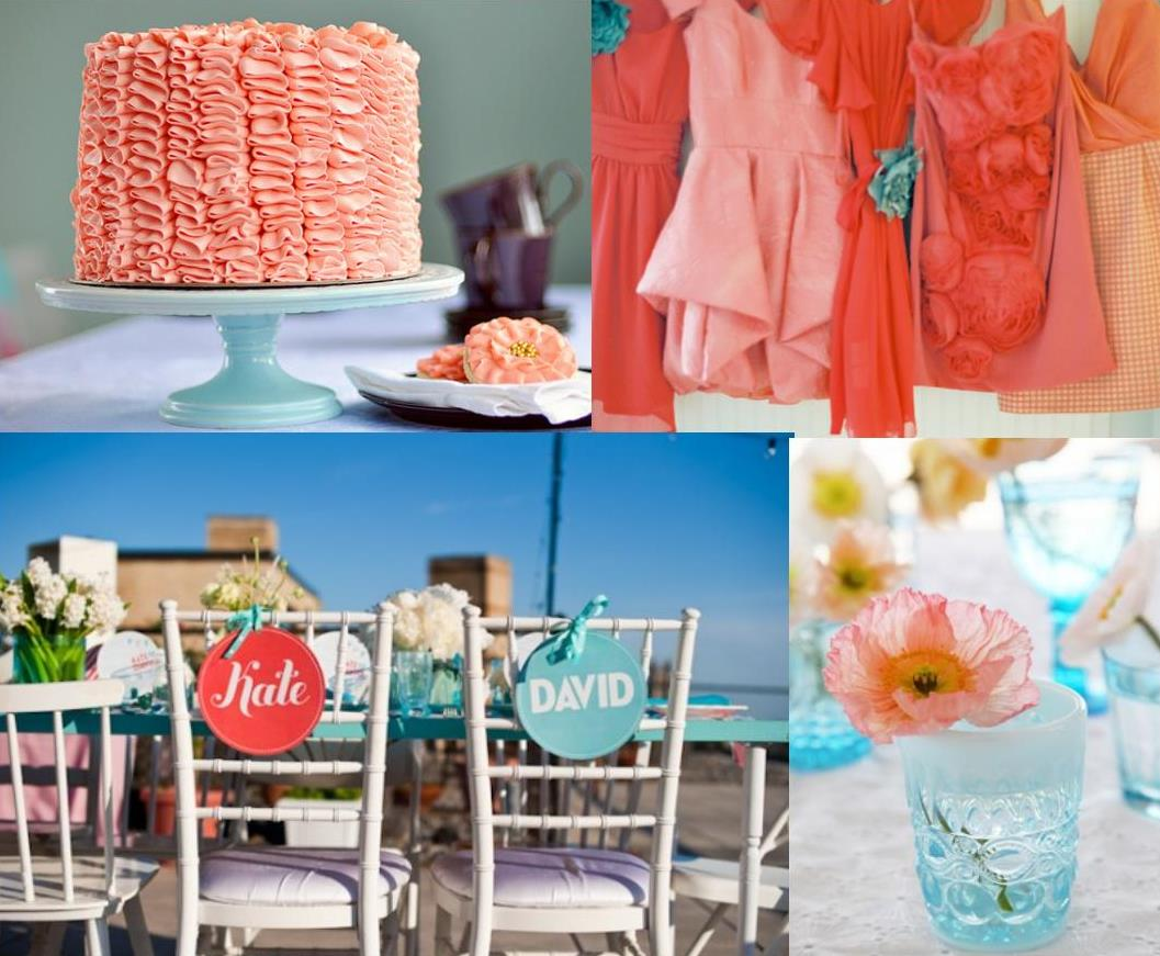 Turquoise And Coral Wedding Decorations Best Cars 2018