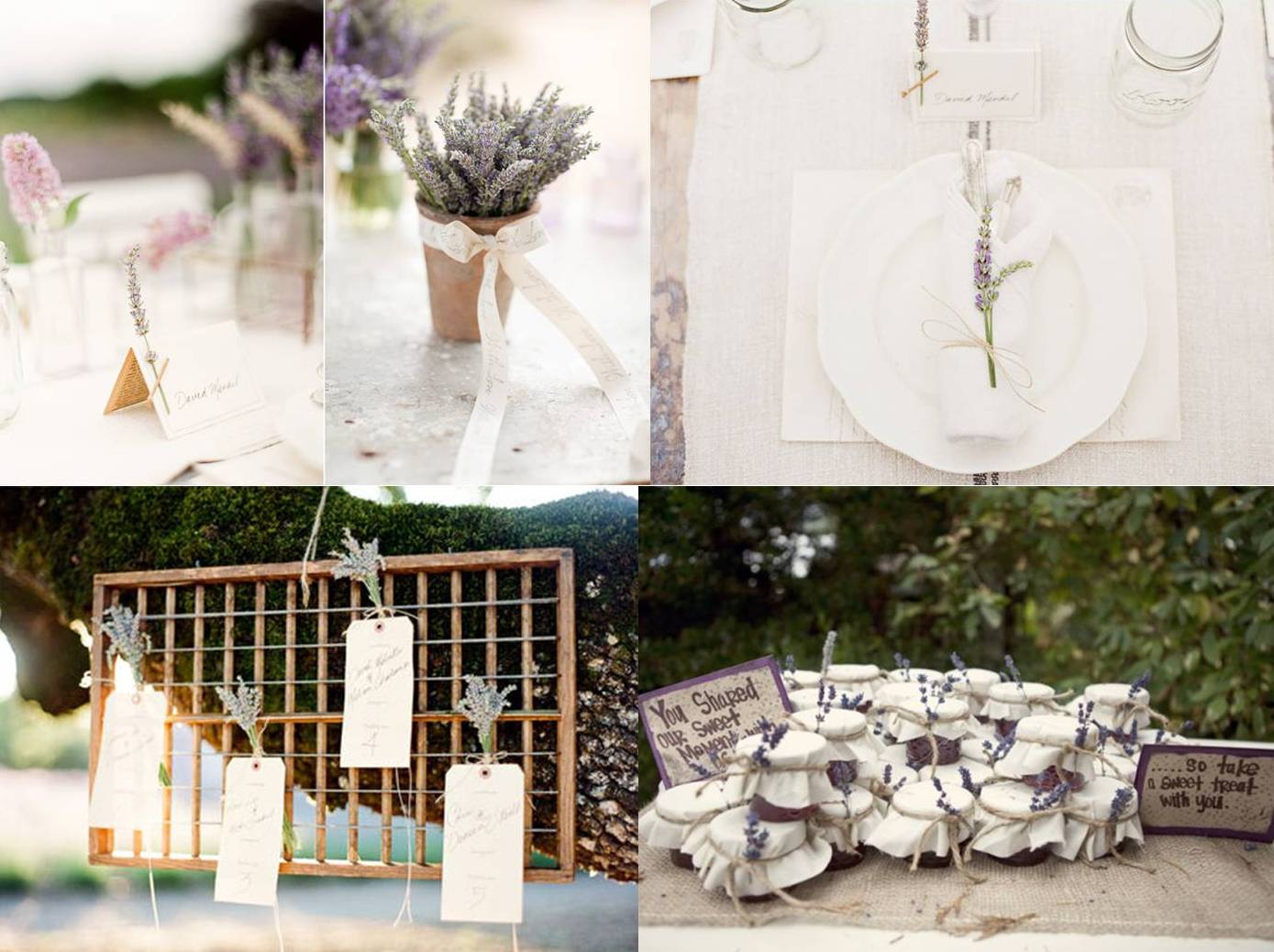 Mood board : lavender wedding decoration – Weddings on the French ...