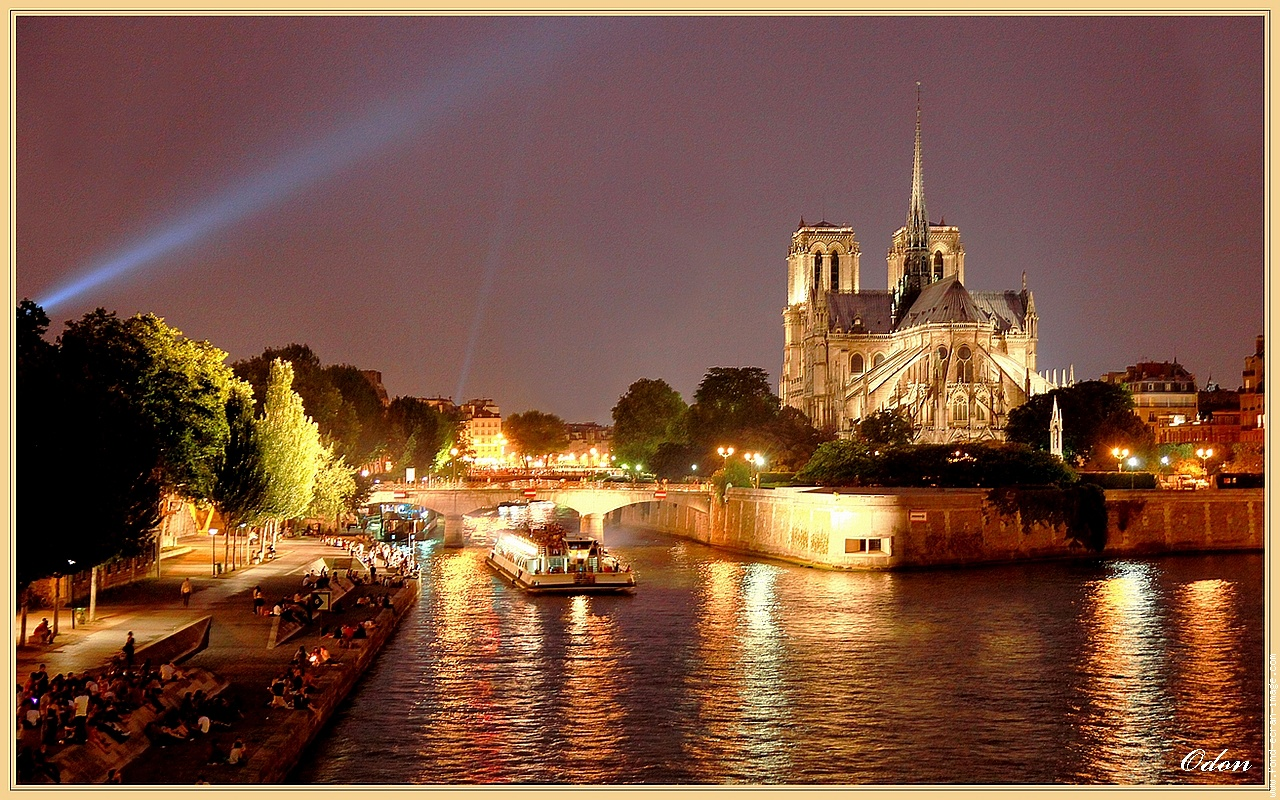Paris at Night Time