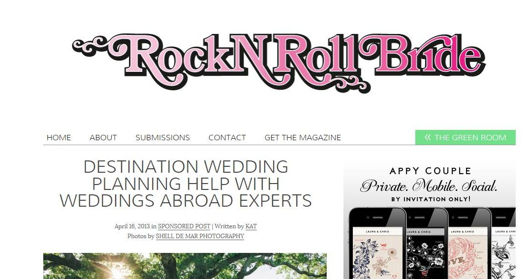 weddings abroad experts on rock n roll bride