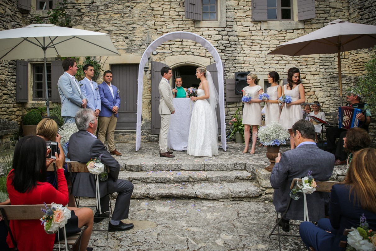 From Australia To Provence, A Wedding Ceremony