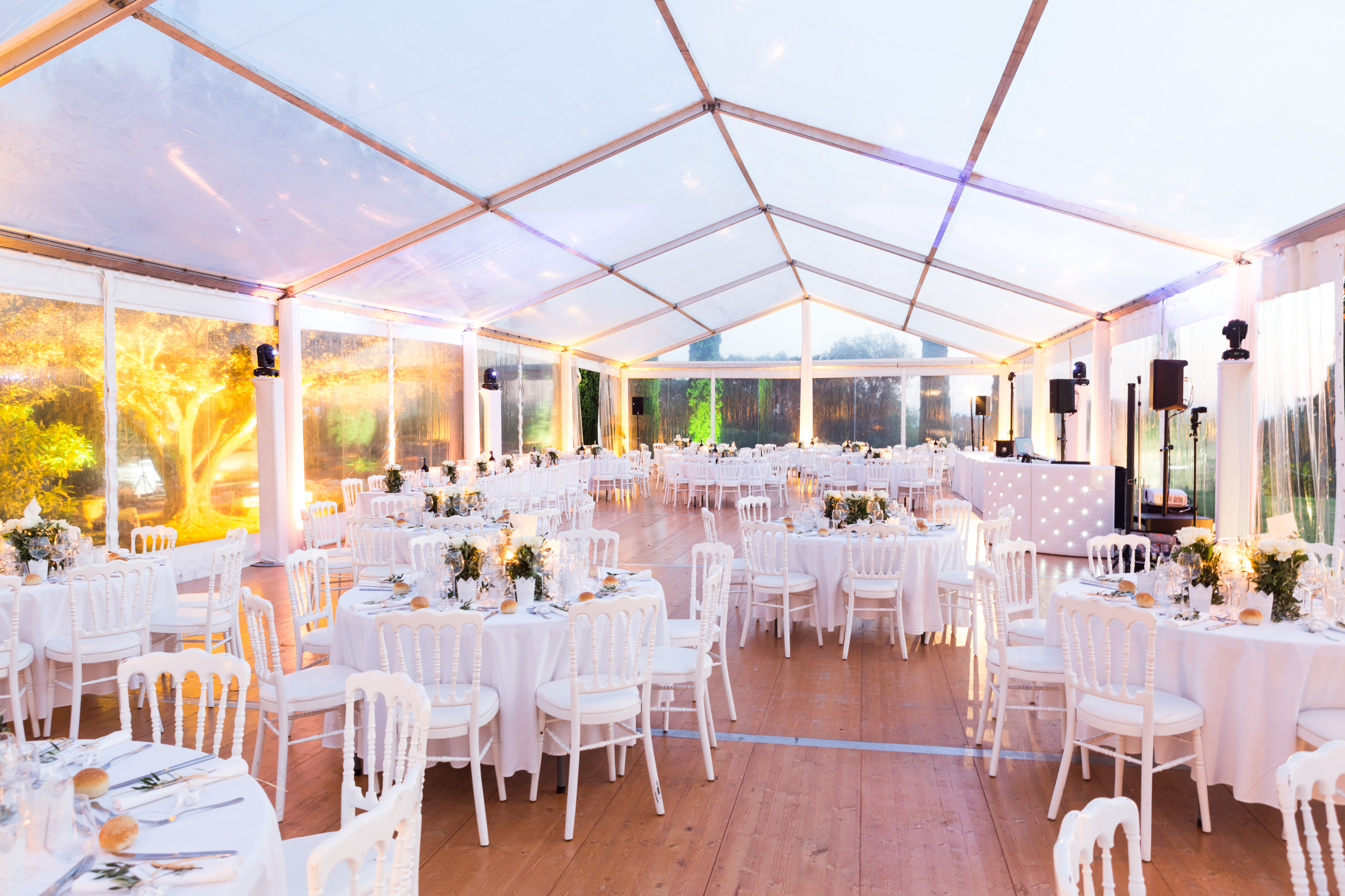 real wedding in provence tent decoration