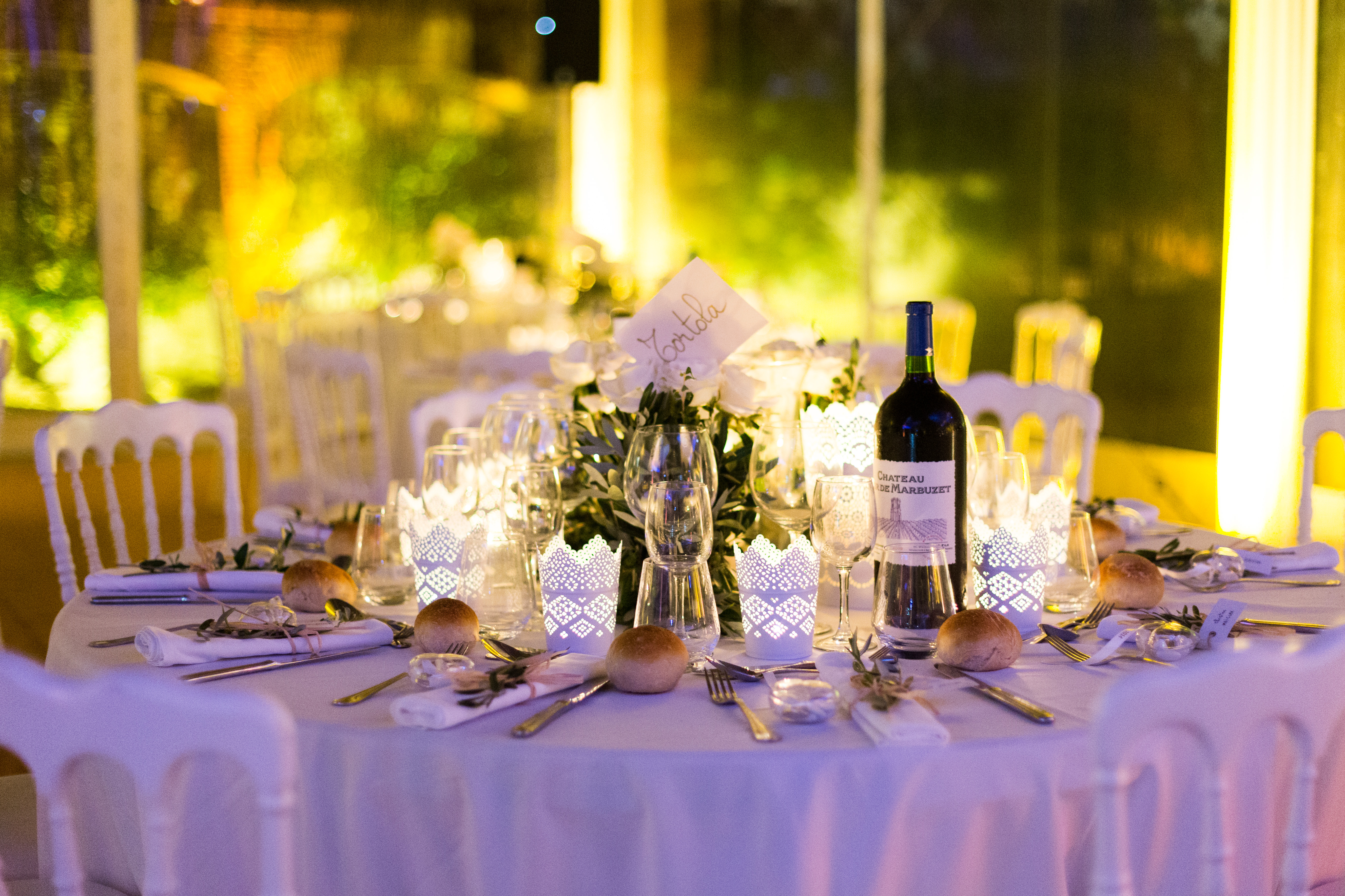 real wedding provence table settings